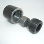 High-pressure carbide jet nozzle assembly (A-513 alloy)